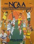 050 NCAA Women's Basketball Championship-TX 1985 program by Ted Watts